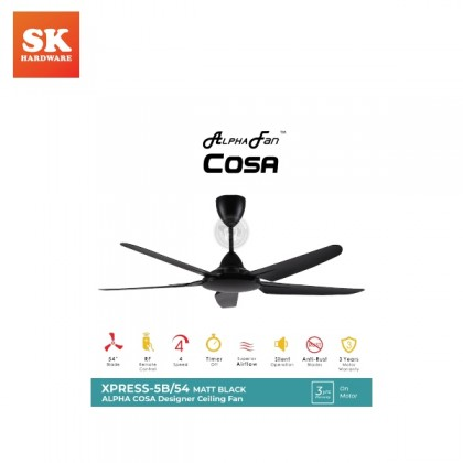 COSA XPRESS 5B/54 FAN-MATT BLACK